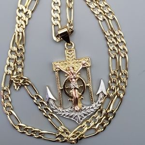 Necklace christ gold filled Brazilian 14k stamped
